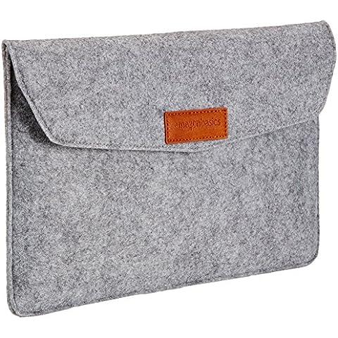 AmazonBasics - Funda de fieltro para portátil de 11 pulgadas, color gris claro