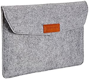 AmazonBasics 11-inch Felt Laptop Sleeve (Light Grey)
