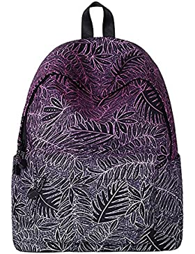 [Gesponsert]WAWJ Schulranzen Beiläufig Schulrucksack Damen mädchen Galaxy Print Backpack Rucksack Travel Shopping School Bag