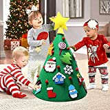 Beetest Diy Christmas Tree for Children, 3D DIY Felt Christmas Tree with 18pcs Toddler Friendly Christmas Tree Hanging Ornaments for Kids Xmas Gifts Christmas Home Decorations Bild 7