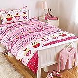Cupcakes Girls Pink Single Bed Duvet Set