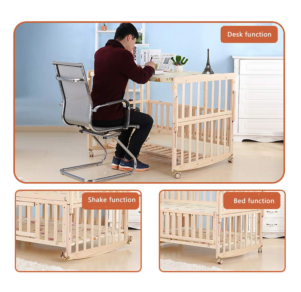 VBARV Solid Wood Environmentally Friendly Paint-free Twin Crib, Baby Double Child Bed, Queen Size Bed, Matching Seven-piece Set VBARV Environmentally friendly, no paint, made of pure solid wood, it is really for the health of the baby! Safe care, close to the natural colors, unique design style set the essence of a lifetime. Anti-corrosion and insect-proof, strong durability, anti-interference aging, corrosion resistance, water resistance, good coloration. 4