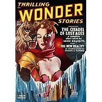 Vintage Sci Fi ANC Thrilling Wonder Stories Dec Fine Art Print (60.96 x 91.44 cm)