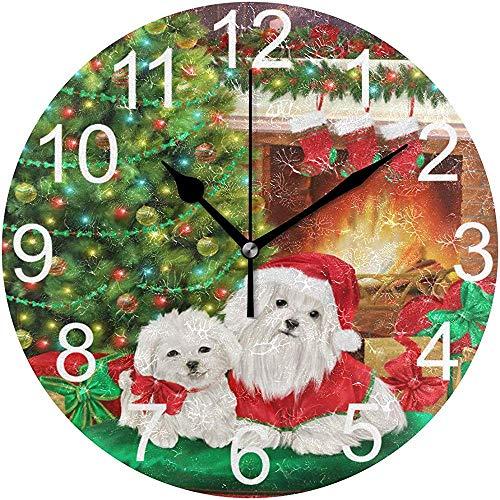 Katrine Store Guirnalda árbol Navidad Reloj Pared