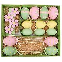 Descrizioni dei prodotti:1.Se vuoi decorare la tua festa di Pasqua o il cestino di Pasqua in modo rapido ed efficace, risparmiando tempo e fatica, è una scelta ideale per l'acquisto di un vasto assortimento assortito, che consiste in varie uo...