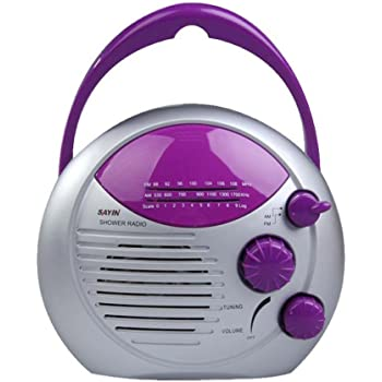 Vanpower Mini Am Fm Dusche Radio Badezimmer Wasserdicht Musik Radio Zum Aufhangen 2 Farben Blau Bad Frottierwaren Duschzubehor