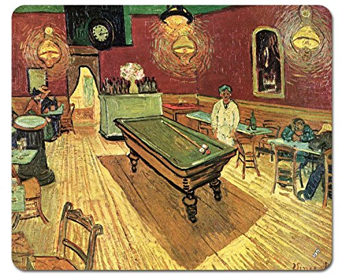 Preisvergleich Produktbild 1art1 89895 Vincent Van Gogh - Das Nachtcafé An Der Place Lamartine In Arles, 1888 Mauspad 23 x 19 cm