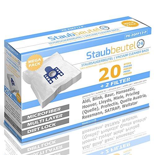 XXL Pack 20 Premium Staubsaugerbeutel Für Miele: Cat & Dog 5000, Euro Classic, Parkett 700, Passion, Exquisit XE, Brilliant 5600, S5 Eco Avantage, Silver Star S300