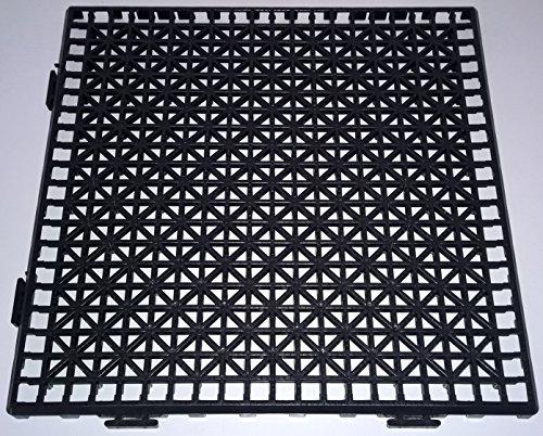 NOVINGRECONS Baldosa PP 30x30cm Negra (Paquete 24 ud.). Suelo Plastico. Suelo Apto...