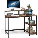 Tribesigns Bureau d'ordinateur Bureau Industriel pour étude, Postes de Travail pour Ordinateur Table de Bureau PC avec Cadre