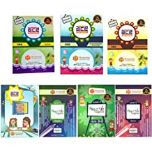 UKG Kids (4-6 Years) All-in-One 558 Pages ACE Early Learning Worksheets for kindergarten, nursery kids, toddlers, pre schoolers & Writing Practice in English, Mathematics, Hindi, General Knowledge / EVS (KG 2) 7 Books Bundle from 3H Learning-2018