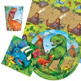 Party Bags 2 Go dinosaures couverts de fête lot pour 8