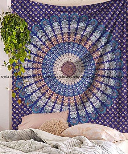 ala Tapisserie Wandteppichen Mandala Indische Baumwolle Tagesdecke Picknick Bed Sheet Decke Wand Kunst Hippie Tapisserie, Queen, 213,4x 218,4cm ()
