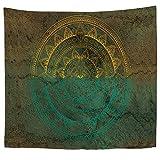 jzxjzx Tapicería Nacional Viento Mandala Imprimir Pared Mantel 6 130 * 150