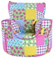 Cotton Patchwork / Ladybird Bean Bag Arm Chair with Beans produced by BeanLazy - quick delivery from UK