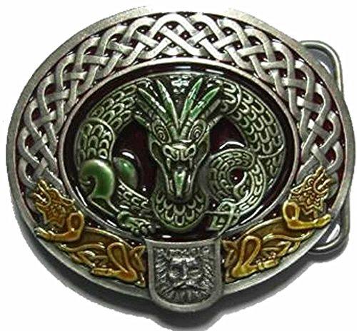 Nidhug Celtic Dragon Belt Buckle with display stand