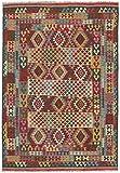 Carpetfine: Kelim Afghan Teppich 209x300 Multicolor - Geometrisch