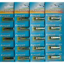 Eunicell - Pilas alcalinas tamaño 23A (12 V, 20 unidades)