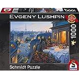 "Schmidt Spiele Puzzle 59562 - Puzzle ""Evgeny Lushpin"", 1000 Teile, Romantischer Abend in Paris"