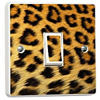 Leopard Print Pattern Light Switch Sticker vinyl cover skin