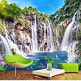 Guyuell Benutzerdefinierte Murasl 3D Brücke Landschaft Wasserfall Natürliche Landschaft Foto Wand Papier Papel De Parede Wohnzimmer Schlafzimmer Hintergrund Wand-120cmx100cm