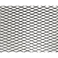FOLIATEC 34728 Grille Alu Design Maille Large Finition Noir 20X120