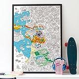 Poster Géant zum Ausmalen Marseille OMY