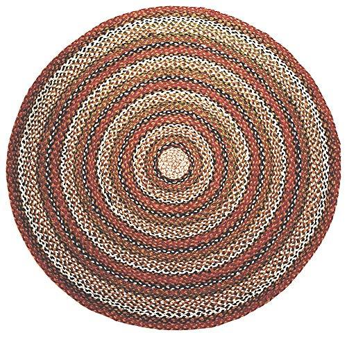 Second Nature Online - Alfombra de algodón Trenzado a Rayas Redondas