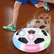 Chocozone Powered Pneumatic Suspended Hover Soccer Ball/Disc with Foam Bumpers and Colorful LED Lights Size 4 Football/Socce