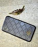 Luxus Designer GG Stil Schutzhülle für iPhone X [10] Tasche Hülle (iPhone X [10], Black)