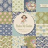 Tilda quot;Pardon My Garden Papierbögen aus der Stoff-Kollektion, 15x 0,8x 15cm, mehrfarbig