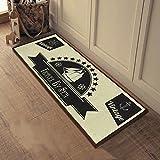 SUNFIRE waschbar Teppich Läufer Teppich Fußmatte für Hall Gänge Passage Korridor Küche Wohnwagen schwarz 40x 98cm