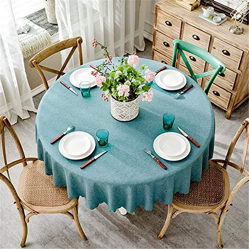 nde Hochzeit Hotel Tischdecke Baumwolle Leinen Tischdecken Wohnkultur Grau Kaffee Blau B Durchmesser 105cm ()