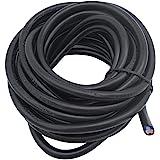 Lumenty 3Core ronde PVC Noir secteur électrique câble 3x 0,75mm² Fil électrique–5metre Longueur de coupe