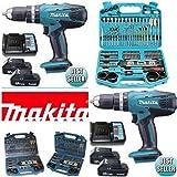 Makita HP457D 18 V Cordless Li-ion Combi Drill Kit and Accessory Set, 101 pc.