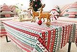 BLUELSS Weihnachten Tischdekoration Bettwäsche Baumwolle Tischdecke Tischdecke Tischdecke Frohe Weihnachten Geschirr Home Textile, Weihnachten, 100 x 140 cm