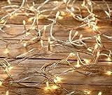 Lunartec Lichterkette Fenster: LED-Lichterkette mit 40 LEDs, warmweiß, 6,2 m (LED Lichterketten für innen) für Lunartec Lichterkette Fenster: LED-Lichterkette mit 40 LEDs, warmweiß, 6,2 m (LED Lichterketten für innen)