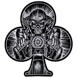 Patch ricamato Premium Stick Cafe Racer Skull Racer Back Patch and Support Patch