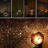 KOBWA Romantische Stern-Nachtlichter DIY Projektor-Nachtlampe Sternenhimmel Schlafzimmer Dekoration Beleuchtung Gadget