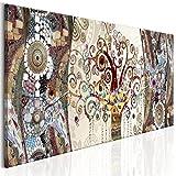 decomonkey Bilder Gustav Klimt Abstrakt 120x40 cm 1 Teilig Leinwandbilder Bild auf Leinwand Vlies Wandbild Kunstdruck Wanddeko Wand Wohnzimmer Wanddekoration Deko Baum