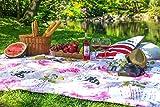 DecoKiing Tagesdecke 170x210 cm rosa weiß lila Bettüberwurf mit Blumenmuster Schmetterling romantisch retro pflegeleicht Gina lilac white pink