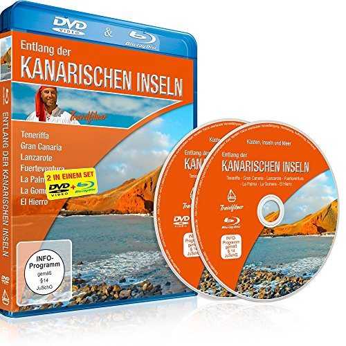 Verwöhnen Paket (Entlang der Kanarischen Inseln (Teneriffa, Gran Canaria, Lanzarote, Fuerteventura, La Palma, La Gomera, El Hierro) [DVD] und [Blu-ray] in einem Set)