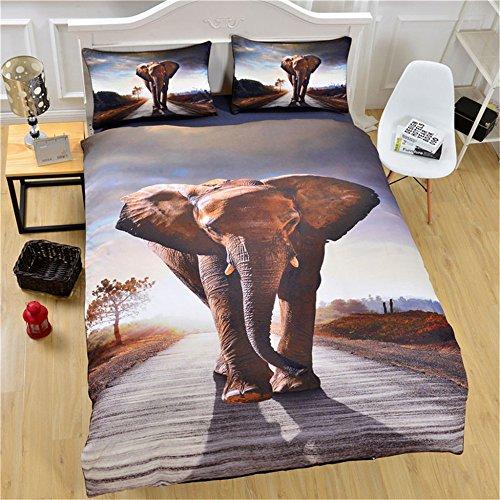 XWLIU Juego Funda Nórdica, Fundas De Almohada con Estampado De Animales Elefantes...