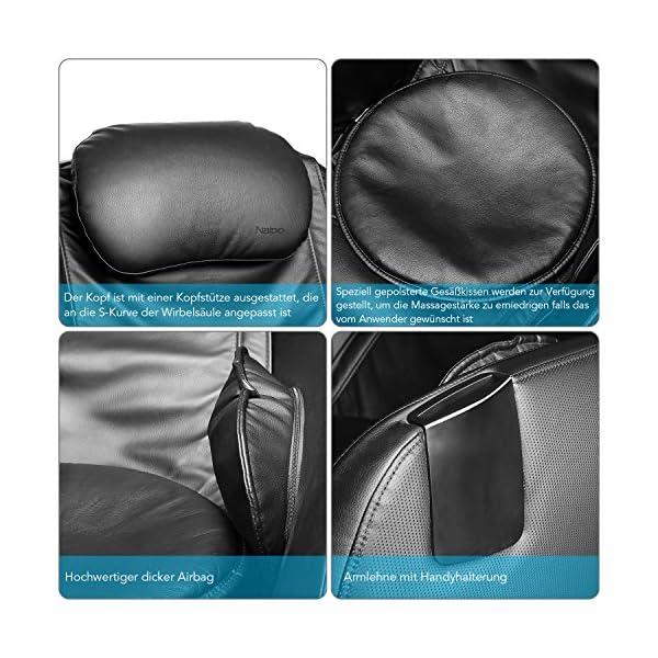 Naipo Shiatsu Massage Stuhl Massagesessel Armlehnensessel Mit Sl Track Klopfen Kneten Luft Massage System Bluetooth 3d Surround Sound Musik Den Fr Zuhause Und Bro