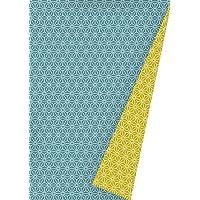 K601475-21 - Papel de regalo (ancho: 30 cm, largo: 50 m), diseño neón, color azul petróleo 30cm x 50m