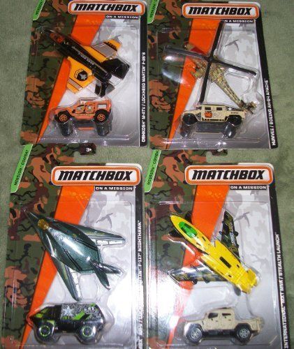 set-of-4-matchbox-on-a-mission-mbx-ar-v-lockhead-martin-f-117-nighthawk-oshkosh-m-atv-lockheed-marti