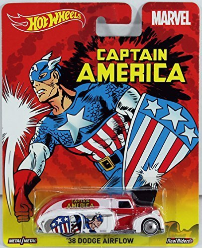 HOT WHEELS MARVEL CAPTAIN AMERICA '38 DODGE AIRFLOW REAL RIDERS by Hot Wheels