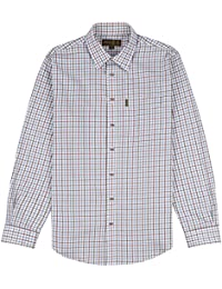 Various Sizes Available CS1010 Musto Mens Twill Check Shirt Blue