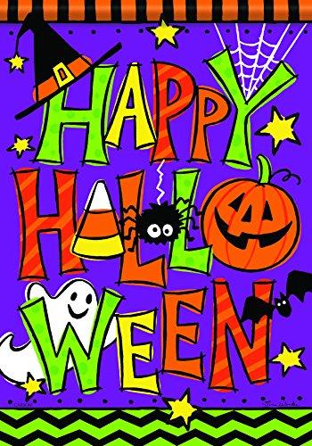 (Carson Home Accents Happy Halloween Trends Klassische große Flagge)
