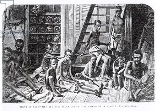 group-of-negro-men-and-boys-taken-out-of-capt-cultured-dhow-in-a-state-of-star-vation-engraving-b-w-
